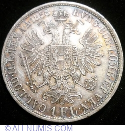 Image #2 of 1 Florin 1858 A