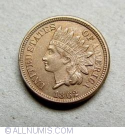 Image #1 of Indian Head Cent 1862