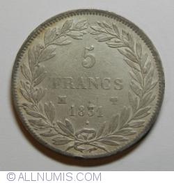 Image #1 of 5 Francs 1831 MA