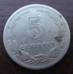 Image #2 of 5 Centavos 1922