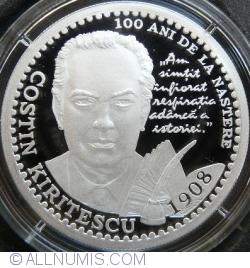 Image #2 of 10 lei 2008 - 100 years since the Costin Kiriţescu's birth