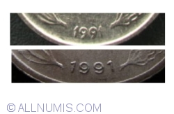 100 Lei 1991 - large date