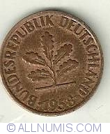 Image #2 of 2 Pfennig 1958 D