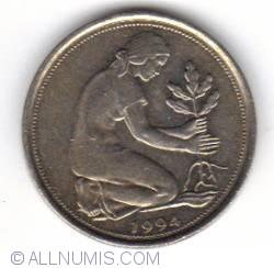 Imaginea #2 a 50 Pfennig 1994 J