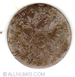 3 Kreuzer 1838 A