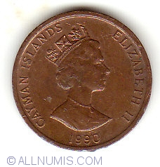 Image #2 of 1 Cent 1990