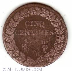 Imaginea #2 a 5 centimes 1797 (L'AN 6)