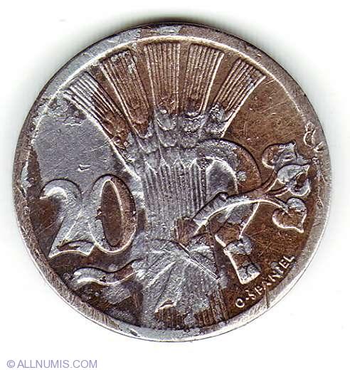 WORLD FOREIGN COINS CZECHOSLOVAKIA 20 HALERU 1926 *LOT 10F19*