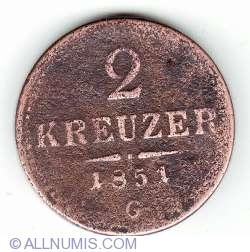 Image #1 of 2 Kreuzer 1851 G