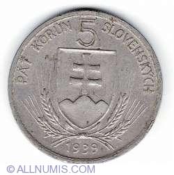 5 Coroane 1939