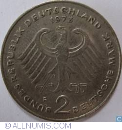 2 Mark 1973 F - Theodor Heuss
