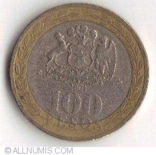 100 pesos 2001 2001 2016 issue 100 pesos chile coin for Atlas specialty supermarket persian cuisine