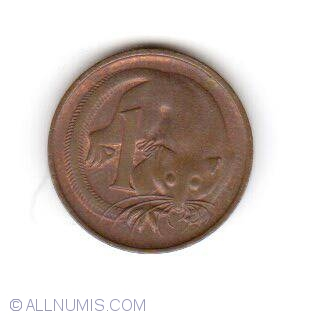 1c 1980 Australian Proof One Cent Coin