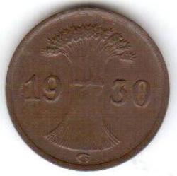 Image #2 of 1 Reichspfennig 1930 G