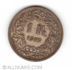 Image #1 of 1 Franc 1907