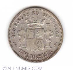 Image #2 of 1 Peseta 1869
