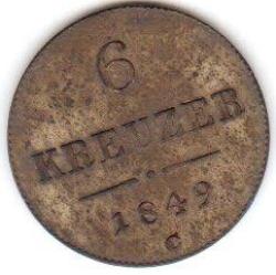 Imaginea #1 a 6 Kreuzer 1849 C