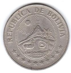 Imaginea #2 a 1 Peso Boliviano 1969