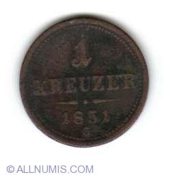 Imaginea #1 a 1 Kreuzer 1851 G