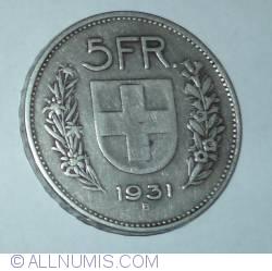 Image #1 of 5 Francs 1931