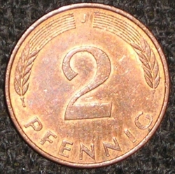 Image #1 of 2 Pfennig 1992 J