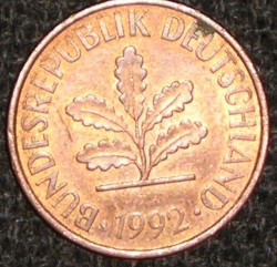 Image #2 of 2 Pfennig 1992 J