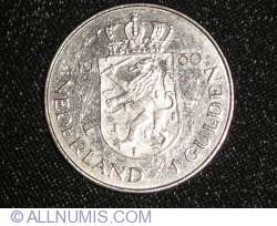 1 Gulden 1980 - Investure of New Queen