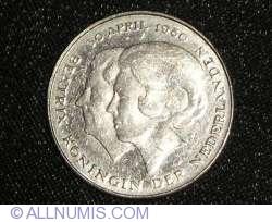 Imaginea #2 a 1 Gulden 1980 - Investirea Noii Regine