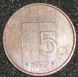Image #1 of 5 Cents 1993