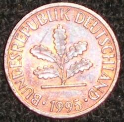 1 Pfennig 1995 D
