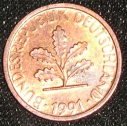 Image #2 of 1 Pfennig 1991 A