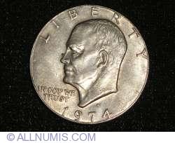 Imaginea #2 a Eisenhower Dollar 1974 D