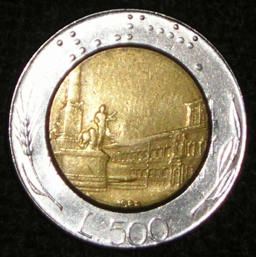 500 Lire 1988 Republic 1946 2001