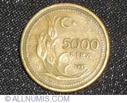 Image #1 of 5000 Turkish Lira 1995