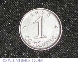 Image #1 of 1 Centime 1966
