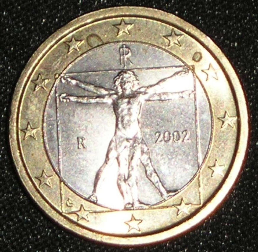 coin of 1 euro 2002 from italy id 2169. Black Bedroom Furniture Sets. Home Design Ideas