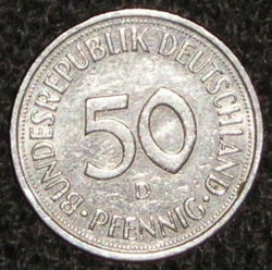 Imaginea #1 a 50 Pfennig 1993 D