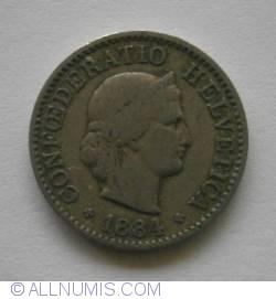 Image #2 of 5 Rappen 1884
