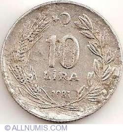 Image #2 of 10 Lira 1981
