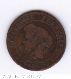 Image #2 of 5 Centimes 1874 K