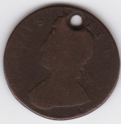 Halfpenny 1729