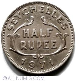 Imaginea #1 a 1/2 Rupee 1971