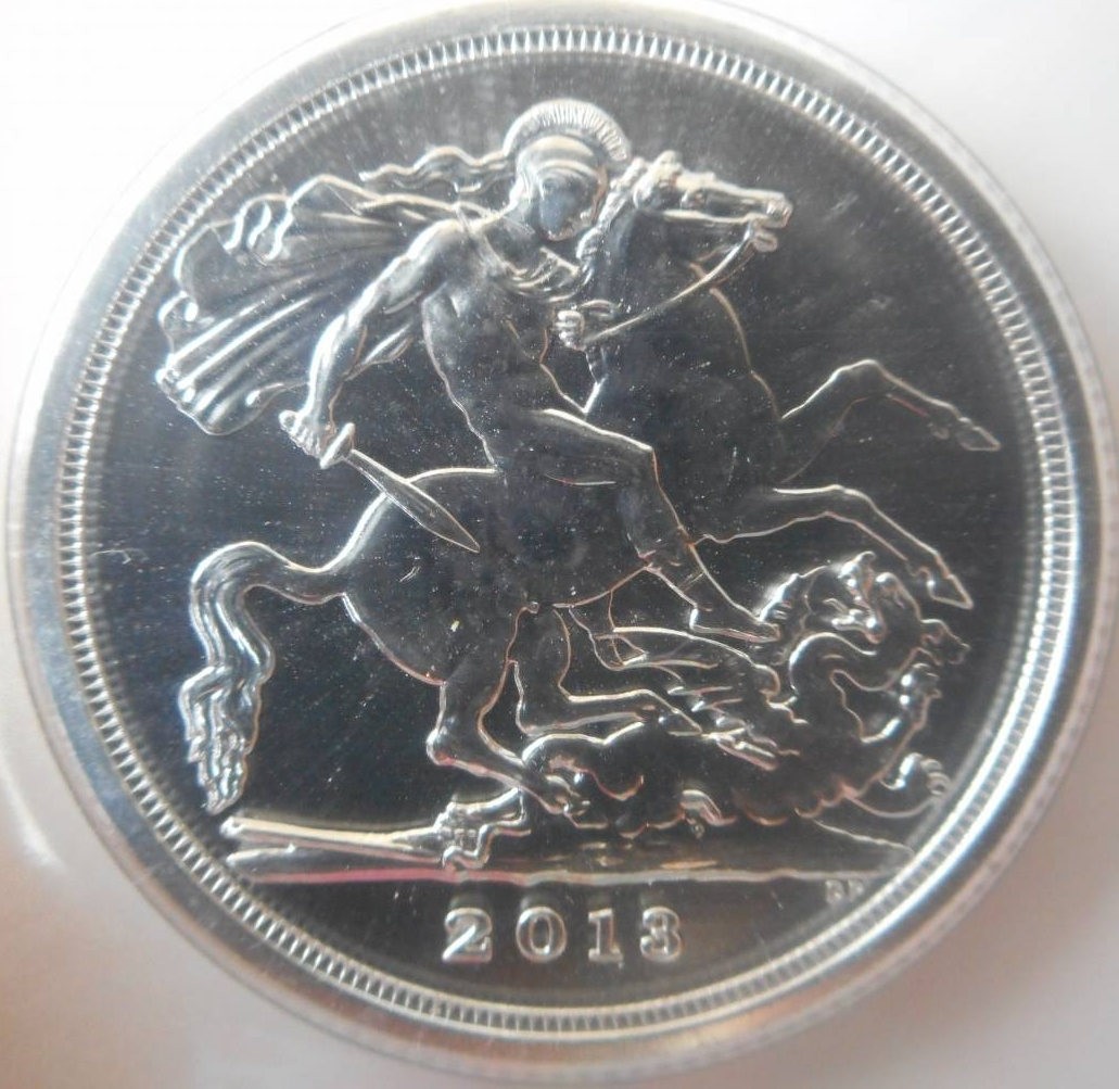 20 Pounds 2013 Saint George Slaying Dragon Commemorative Misc Great Britain Coin 33158