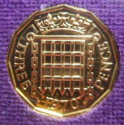 [PROOF] 3 Pence 1970