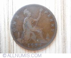 Penny 1877 large year spacing