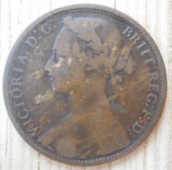 Penny 1876 large year spacing