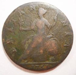 Image #2 of Halfpenny 1751