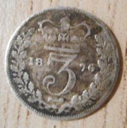 Threepence 1876
