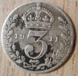 Imaginea #2 a Threepence 1911