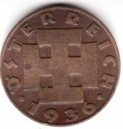 Image #2 of 2 Groschen 1936